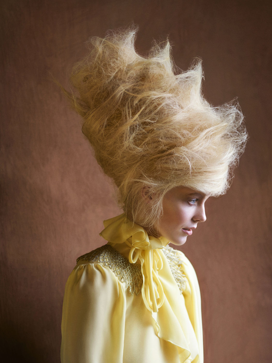 Hair by : Lars Eriksen - Styling by : Linda Sande - Model : Anoushka